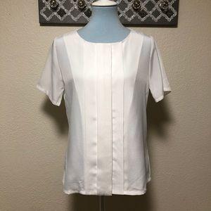 Pendleton Button Down Blouse White Short Sleeve, 6